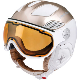 Slokker Free Helm Dames, gold white